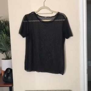 Victoria secret polka dot sheer blouse